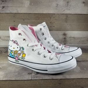 Converse Hello Kitty Flowers